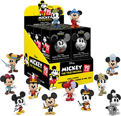 Mickey Mouse 90 Years  2 Mystery Mini Mickey figures inside each pack New