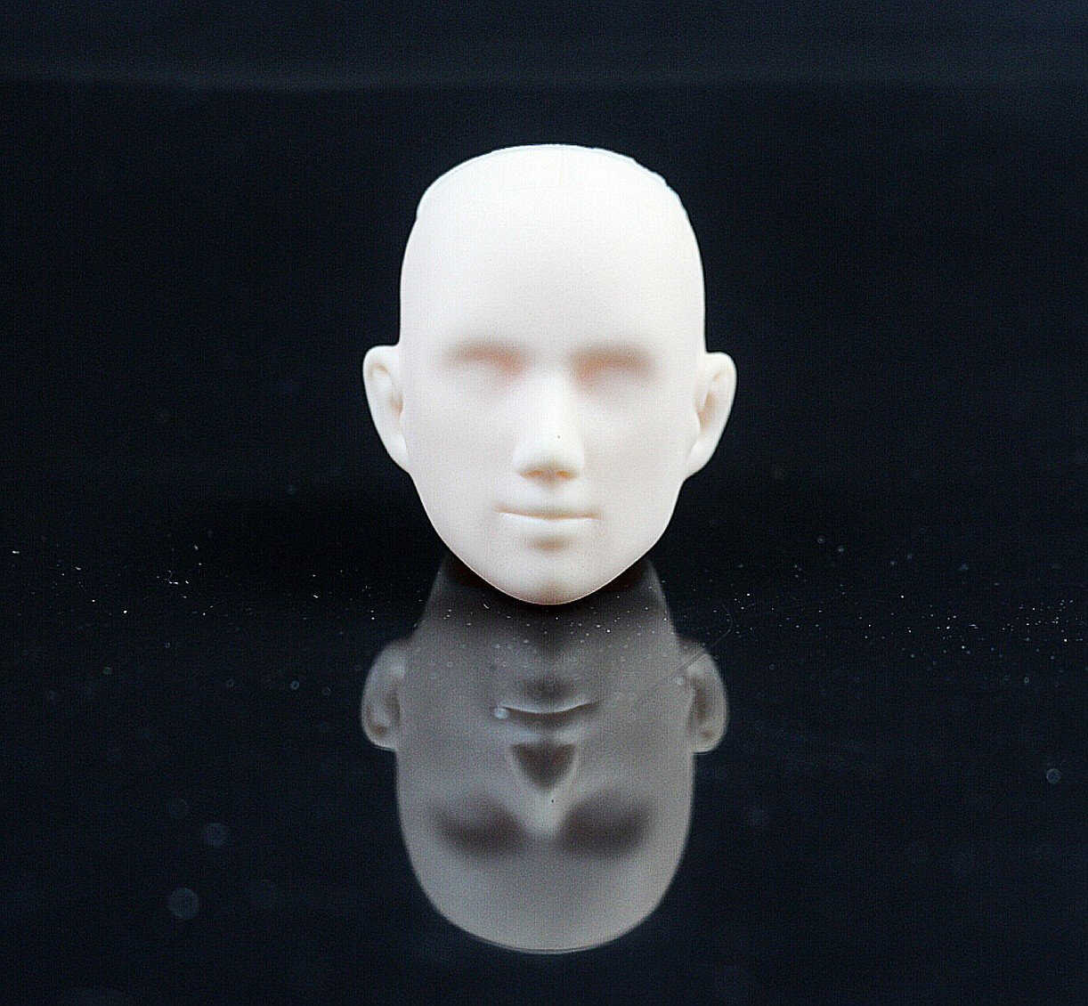 CHENGYIDA 1//6 Scale Obitsu 27cm Male Head 27HD-F02W White skin,Doll Heads for Crafting Repair Practice Makeup