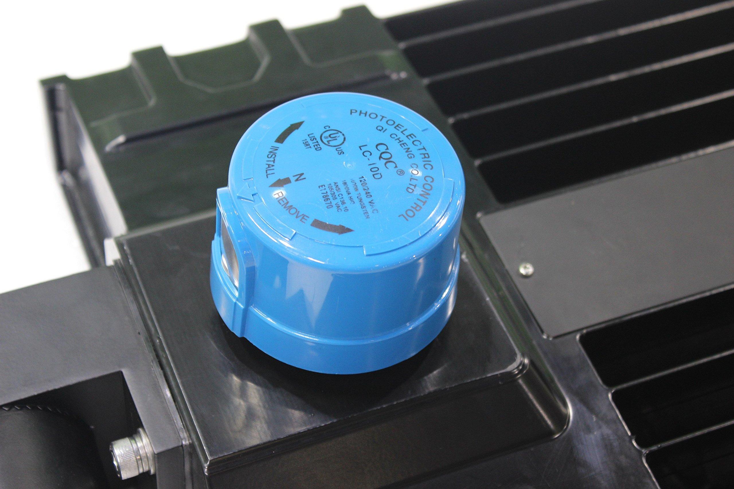 300 Watt NextGen LED Parking Lot Lights - 40,000 Lumen - Super Efficiency 130 Lumen to Watt - 5000K Bright White - Replaces 1000W Halide - LED Shoebox Lights - Slip Fit Mount - With photocell by RuggedGrade (Image #3)