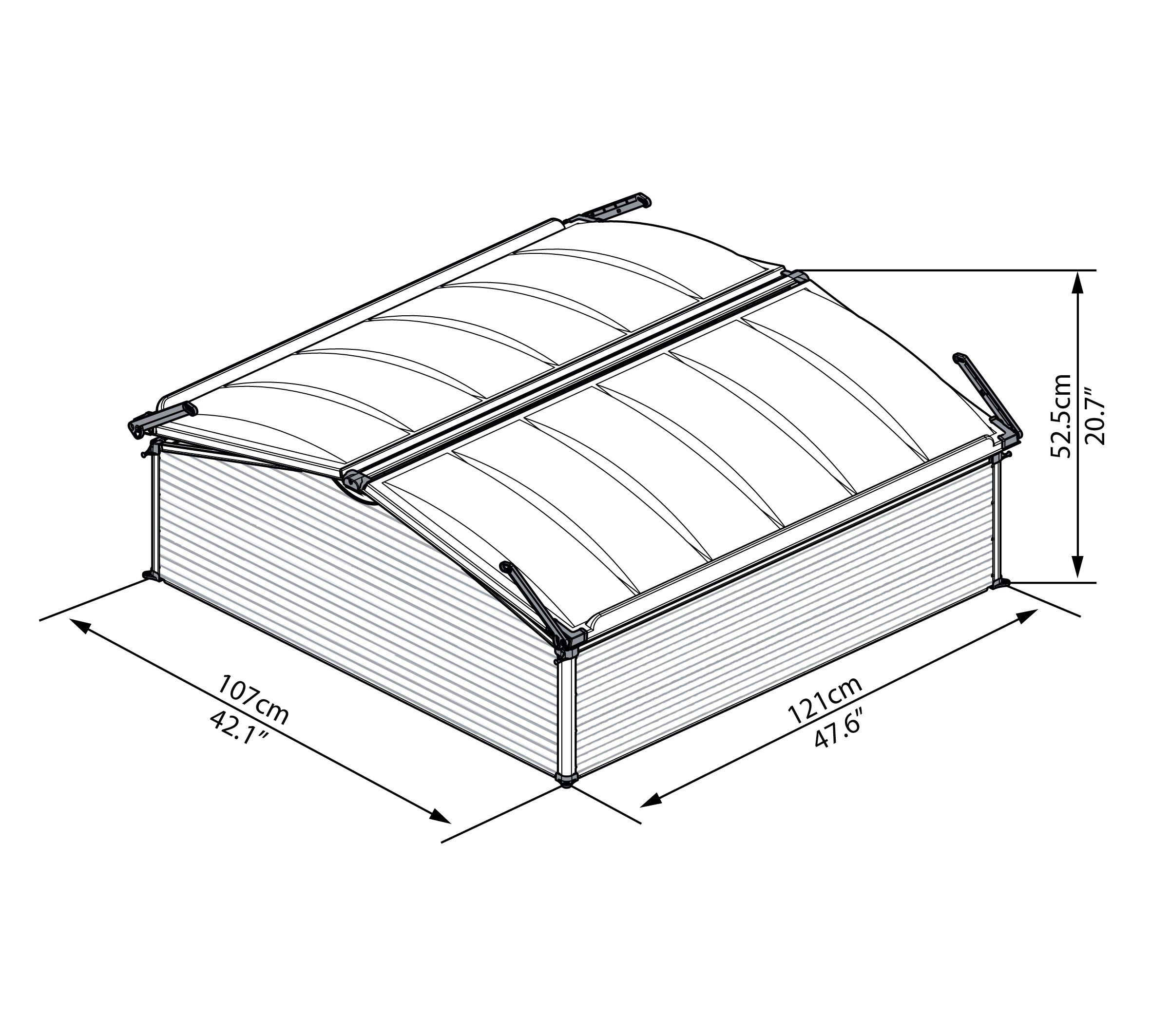 Palram Cold Frame, Double by Palram (Image #6)