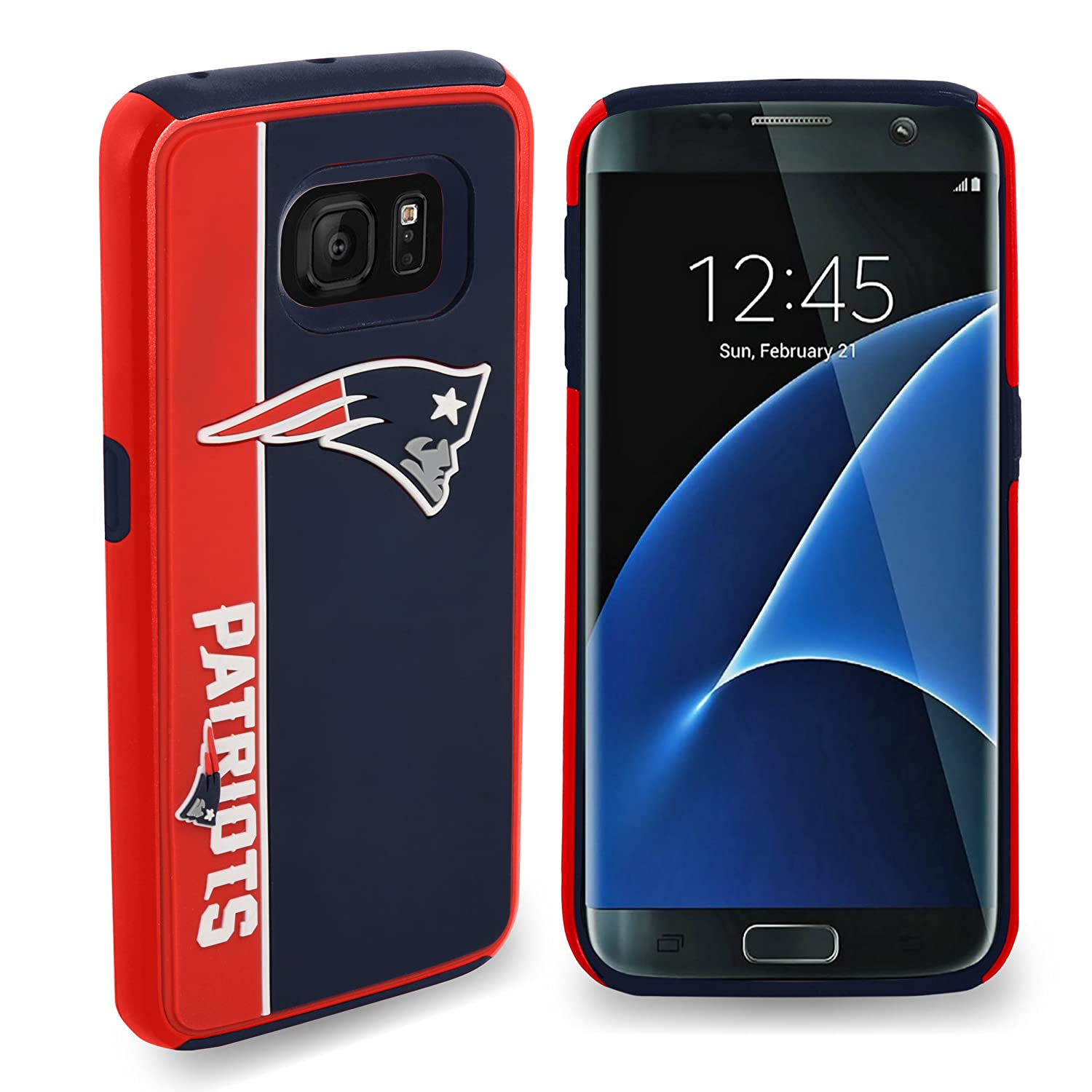 Dual Hybrid Bold Case Forever Collectibles Samsung Galaxy S8 NFL New England Patriots