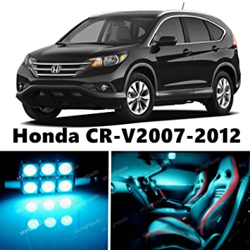 12pcs LED Premium hielo azul luz interior paquete Deal para Honda CR-V 2007 - 2012: Amazon.es: Coche y moto