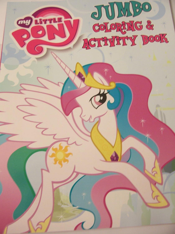 Amazon My Little Pony JUMBO Coloring Activity Book Beautiful Princess Celestia Toys Games