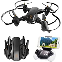 TOPVISION Foldable Quadcopter RC Drone with WiFi FPV HD Camera Live Video, Altitude Hold, One Key Start, APP Control