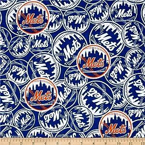 Fabric Traditions MLB New York Mets Cotton Broadcloth, Yard, Multi