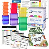 Amazon Price History for:Portion Control Containers DELUXE Kit (14-Piece) with COMPLETE GUIDE + 21 DAY PLANNER + RECIPE eBOOK by Efficient Nutrition - BPA FREE Color Coded Meal Prep System for Diet and Weight Loss
