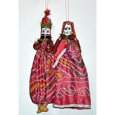 - Ethnique Indian bricolage Katputli Rajasthani-Paire