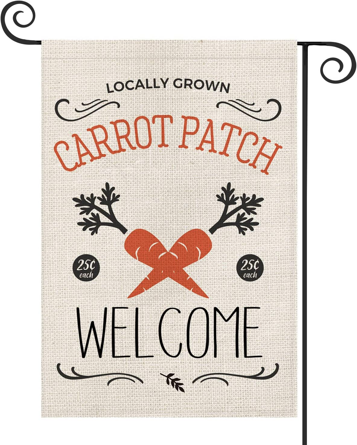AVOIN Carrot Patch Easter Garden Flag Vertical Double Sized, Welcome Holiday Spring Yard Outdoor Decoration 12.5 x 18 Inch