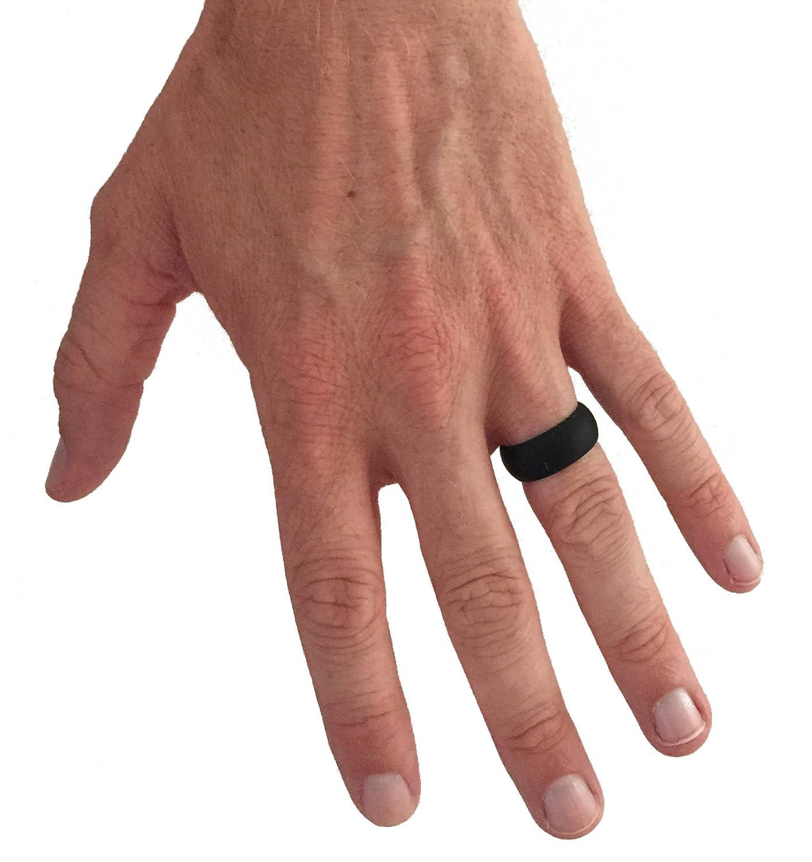 Silicona-anillo/anillo de boda para hombre, duradero, seguro anillo, en el trabajo o en la formación Size 8.13 (s) Negro negro / negro Talla:8: Amazon.es: ...