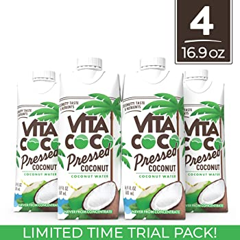 4-Pack Vita Coco 16.9 Oz Coconut Water (Pressed Coconut Trial Pack)