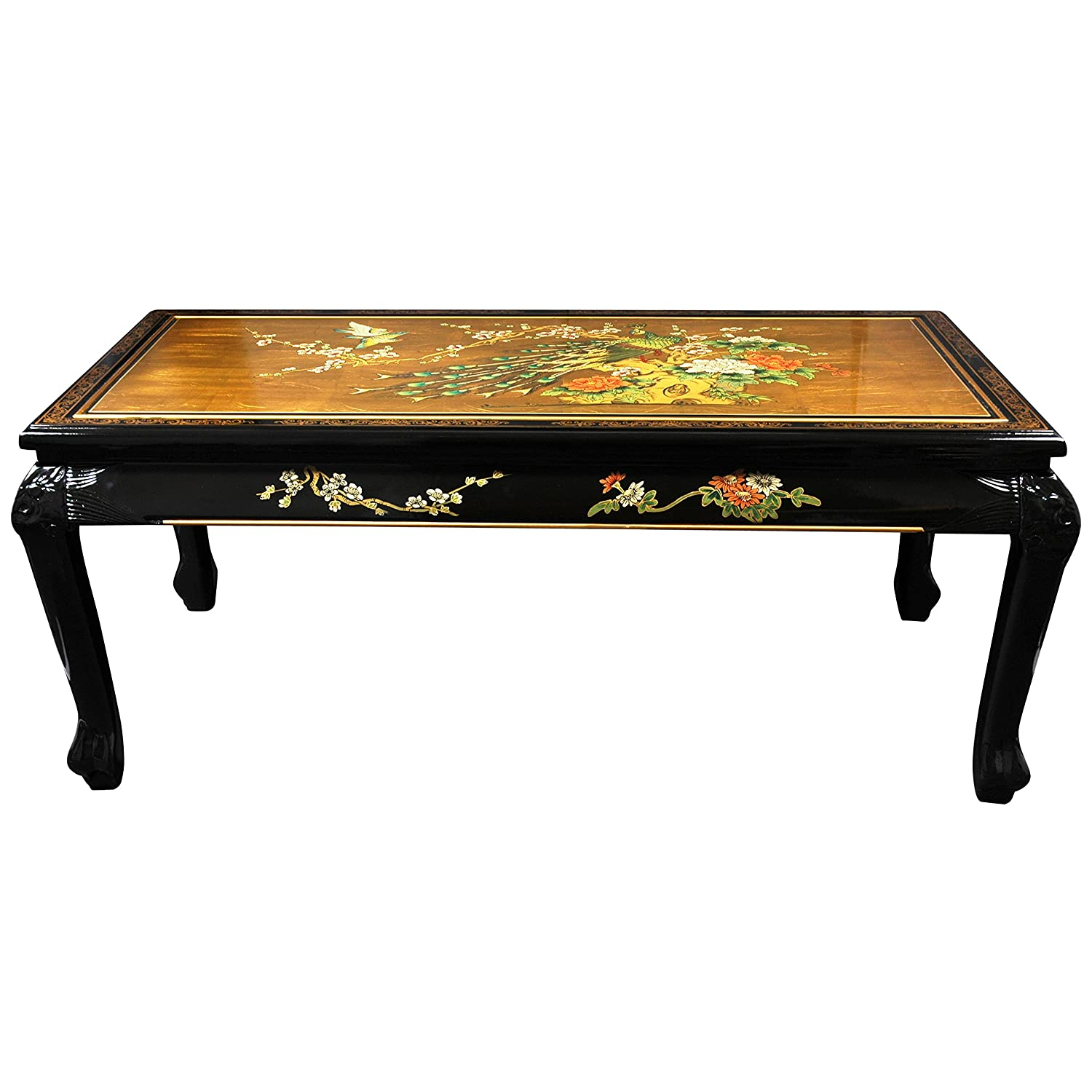 Amazon Oriental Furniture Claw Foot Coffee Table Black