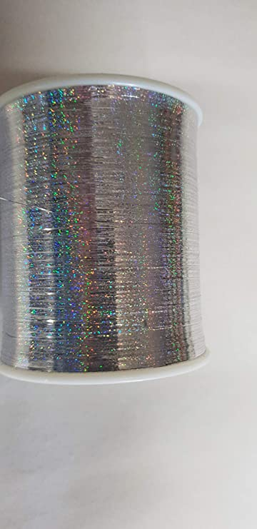 PhiloTeXX 1 Spule 300 g Metallgarn GP 62,50 EUR/kg holografisch Silber Lame Beilaufgarn Lurexgarn 100% Polyester