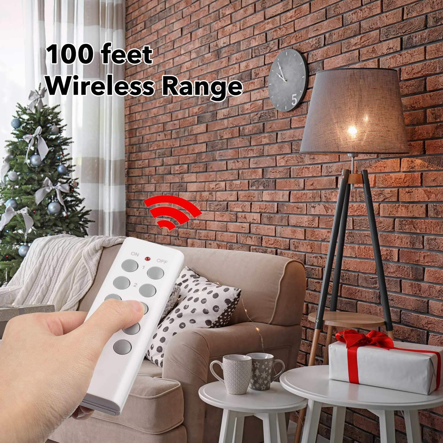 BN-LINK ES1513-5-2 Wireless Remote Control Outlet with Extra Long Range (5 Pack) - -