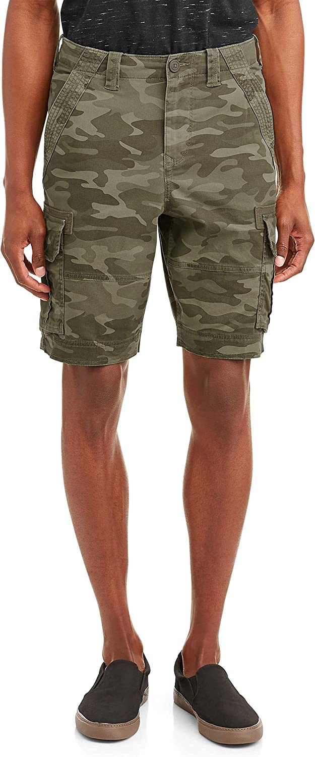Camo Camouflage Above The Knee Stretch Cargo Shorts