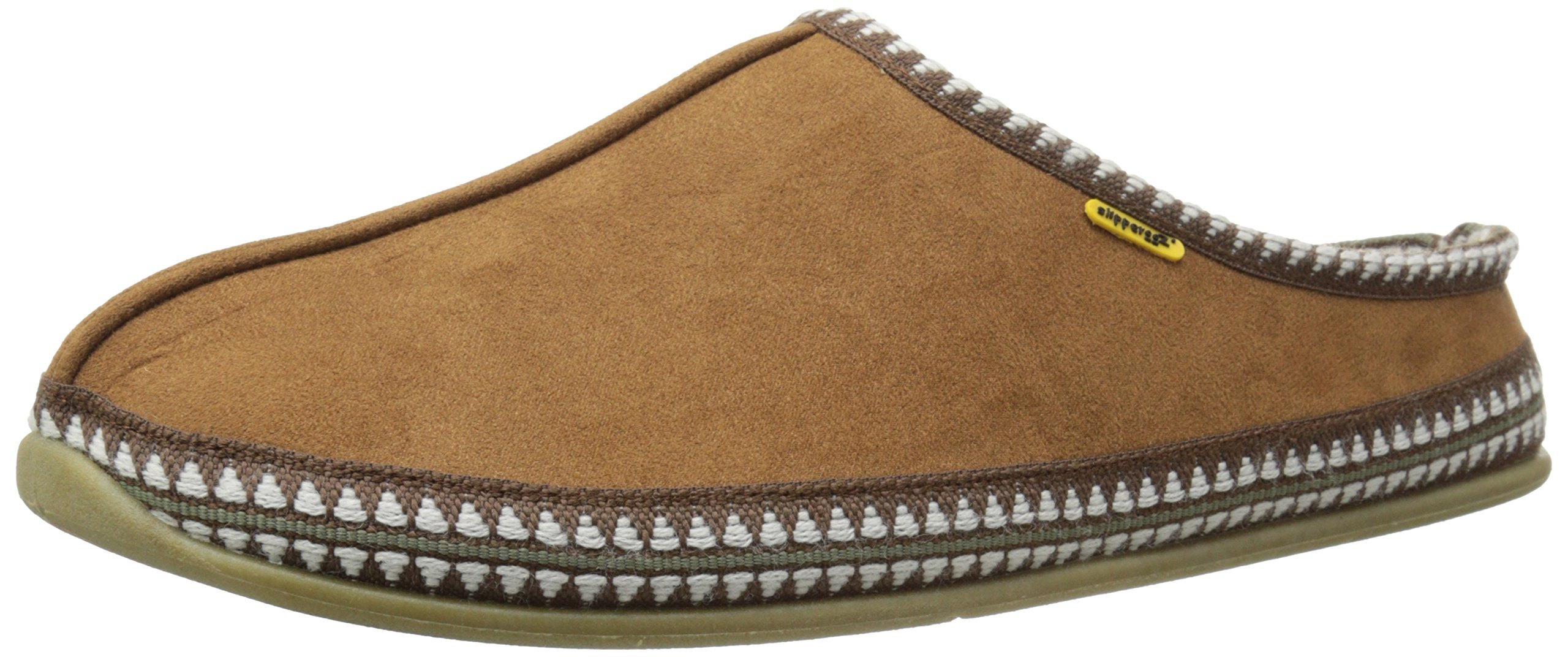 Deer Stags Men's Wherever Slip on Slipper, Chestnut, 14 W US