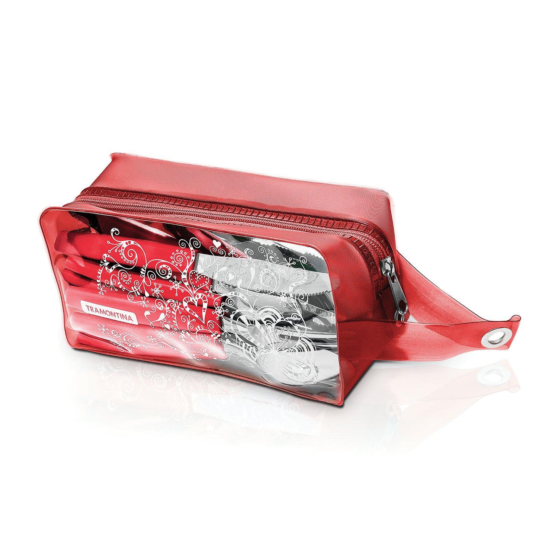 Tramontina 23299/753 24 Pc Juego de Cubiertos, Color Rojo