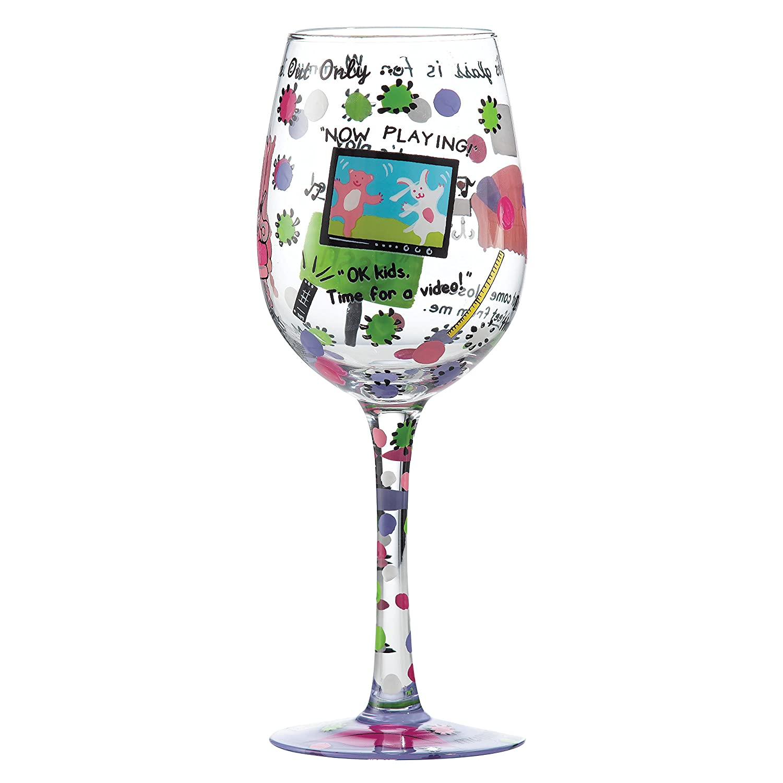 Lolita a27903/est/ándar Elementos de casa y Texto en Cristal Copas de Vino 22,5/cm dise/ño de Flores