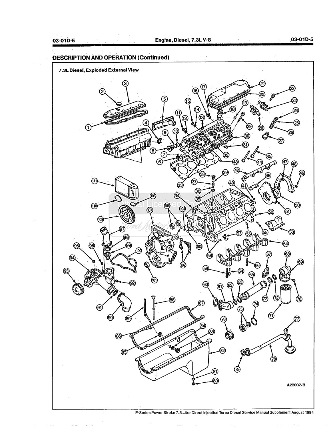 Bishko Automotive Literature 1995 Ford Econoline Bronco 7 3l Engine Diagram F100 F350 Pickup Service Manual Cd Wiring Oem