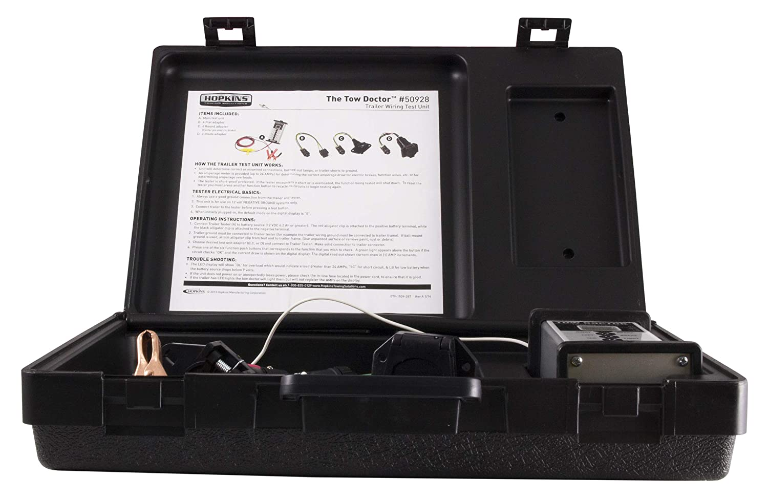 Hopkins 50928 Tow Doctor Trailer End Wire Harness Test Unit Hopkins Towing Solution