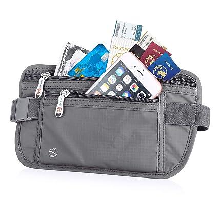 New Travel Waist Pouch For Passport Money Belt Bag Hidden Security Wallet Black Attractive Designs; Home