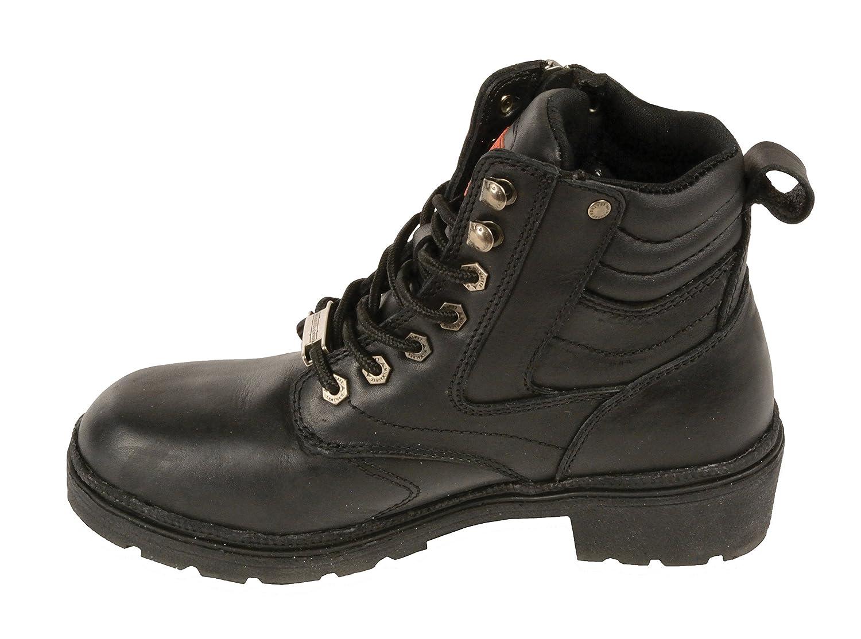 Milwaukee MBL9320-BLK-8 Womens Side Zipper Plain Toe Boots Black, Size 8
