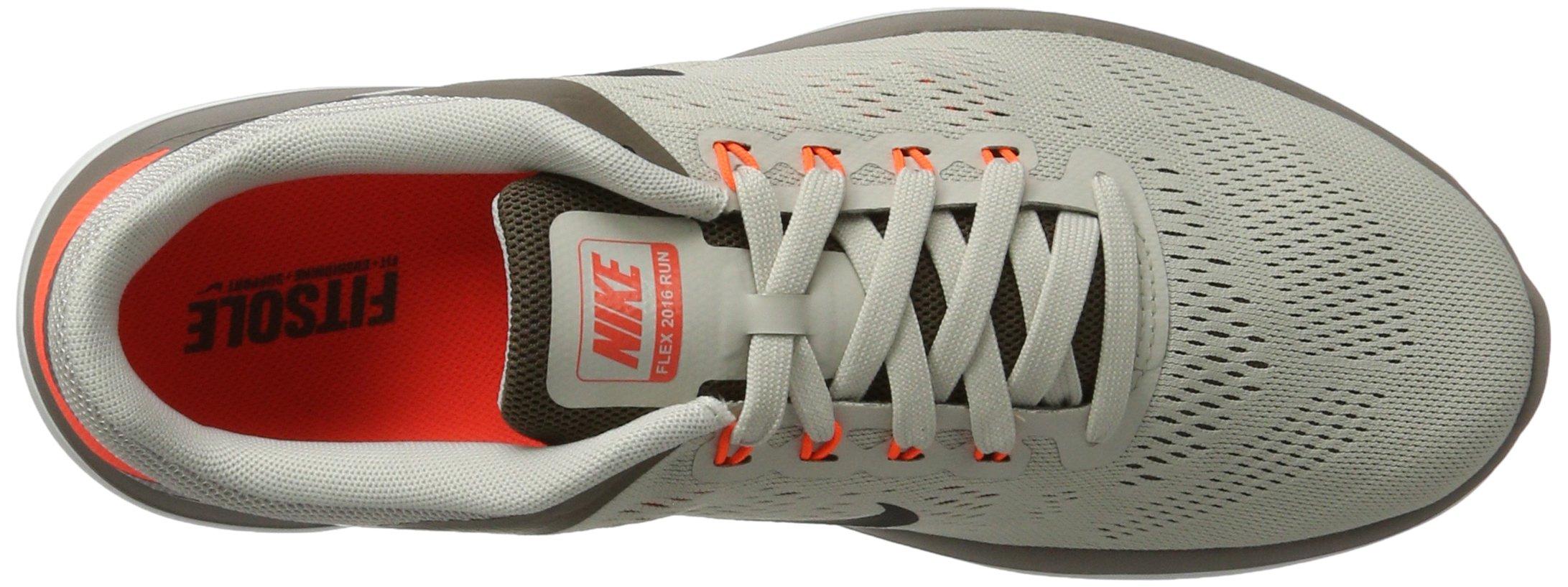 Nike Mens Flex 2016 RN Running Shoe Light Bone/Dark Mushroom/Hyper Orange/Black 8.5 D(M) US by NIKE (Image #7)