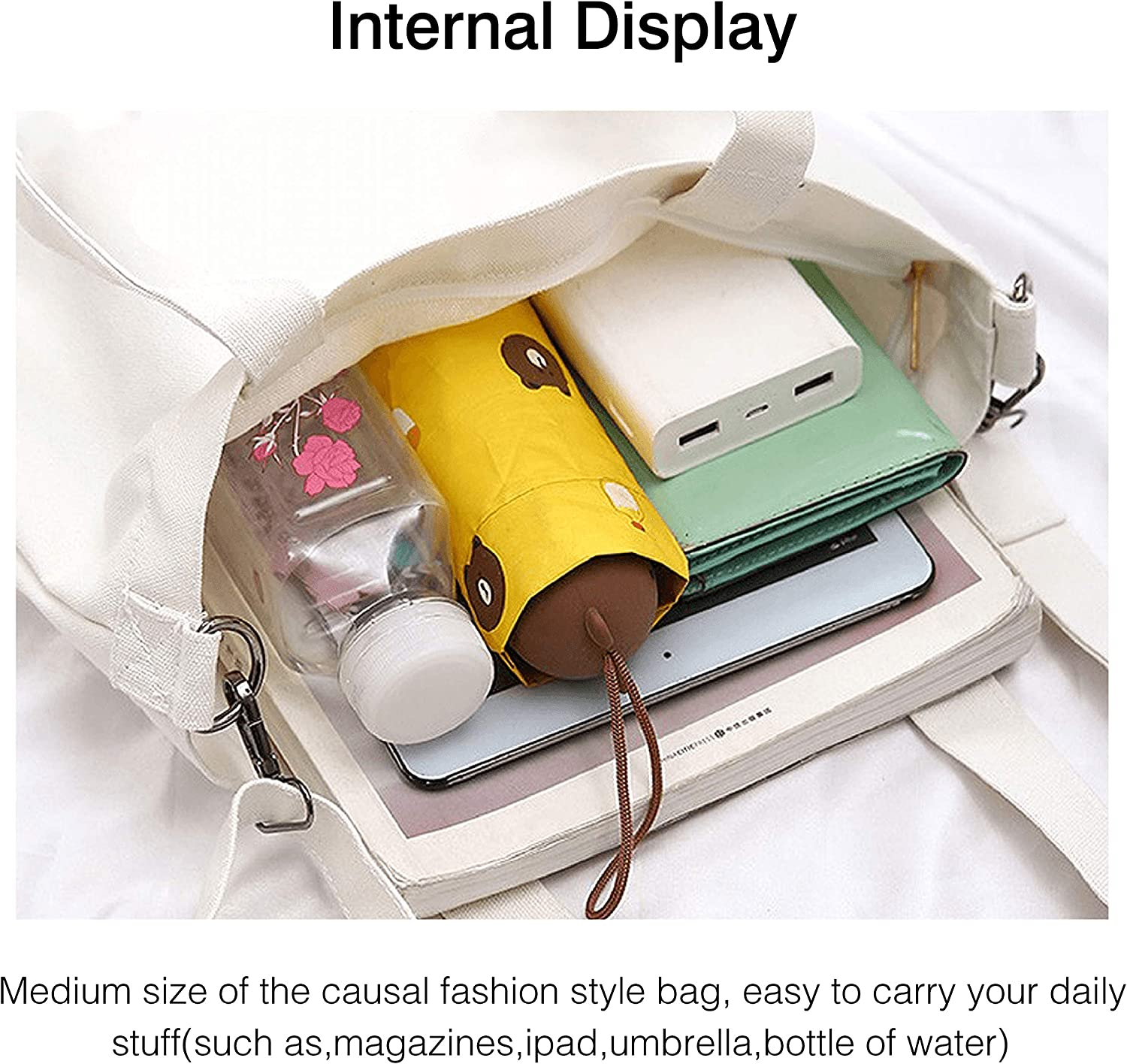 Women Canvas Tote Handbags Casual Shoulder Bag Rock Music Band Member Theme Crossbody Essential Hobo bag