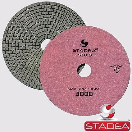 Stadea Ppw257b Diamond Polishing Pad 7 Inch Grit 3000 For Marble Concrete Stones Terrazzo Granite Floor Polishing