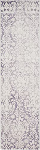 Safavieh Passion Collection PAS403A Lavender and Ivory Distressed Runner 2 2 x 10