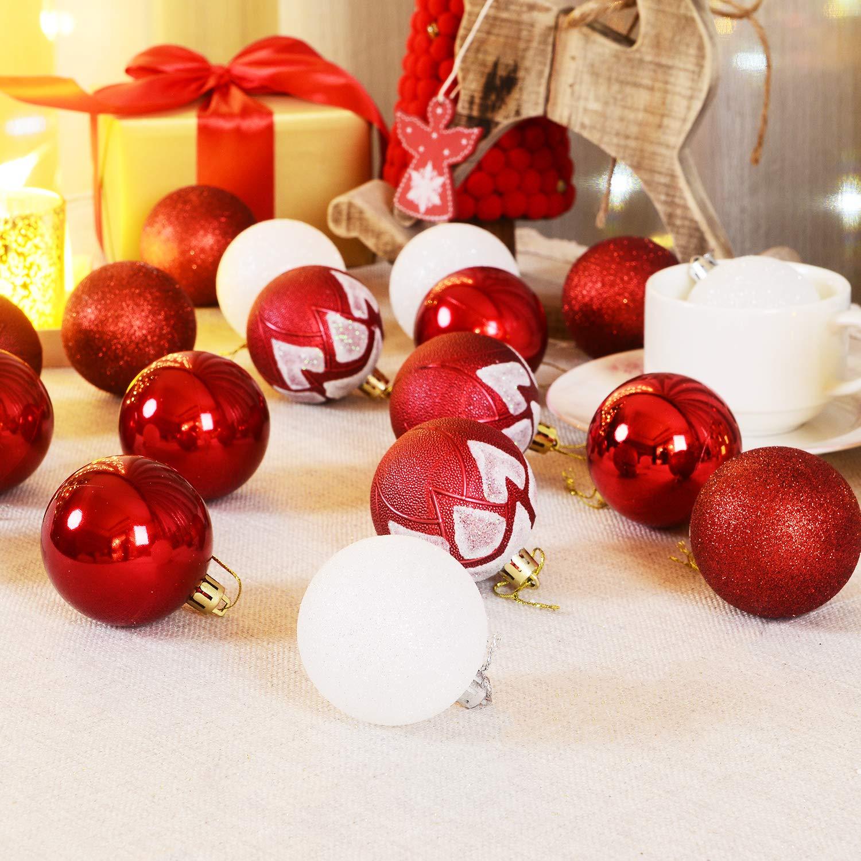 Weihnachtskugeln 60mm Set 24 St U Cke 6cm Christbaumschmuck Gl A