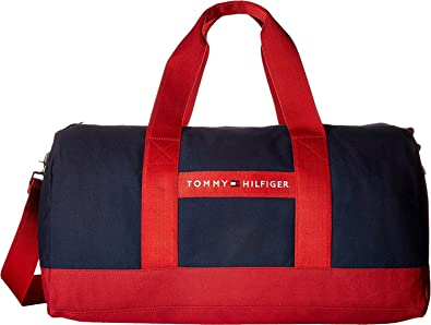 TOMMY HILFIGER STRIPE STORY DUFFLE Luggage Black mentommy hilfiger on saleprofessional online store