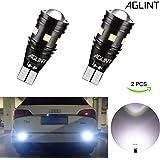 AGLINT T15 T16 LED バックランプ 爆光 400LM高輝度 無極性12V/24V兼用 キャンセラー内蔵 CANBUS 9連3030SMD W16W 921 912 LED バックアップ 6000K ホワイト車検対応 1年保証 2個入り