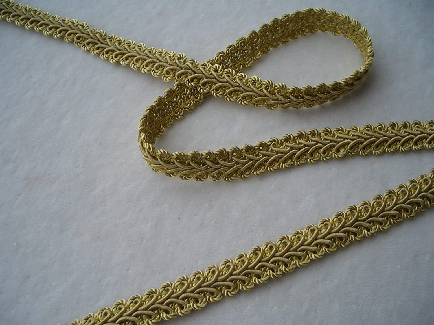 14 Yards of Beautiful 1//2 Wide French Style Braid Gimp Trim ~ Your Choice of 12 Colors Antique Gold