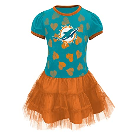 7a0da3dbb Outerstuff NFL Miami Dolphins Love to Dance Infant Girl Tutu Dress, 12  Months