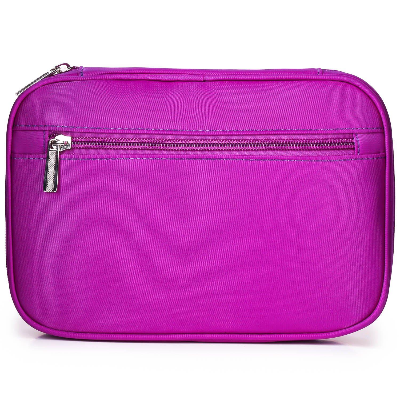 Lily & Drew Travel Jewelry Storage Carrying Case Jewelry Organizer with Removable Pouch (V1 Dark Purple) by Lily & Drew (Image #6)