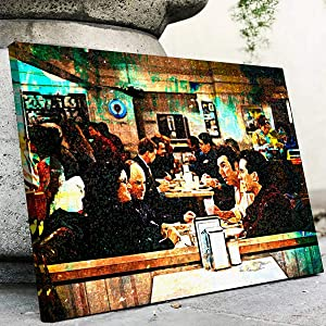 DOLUDO Canvas Wall Art Seinfeld Diner Poster Prints Painting Picture for Living Room Bedroom Wall Decor No Frame 16x24inch