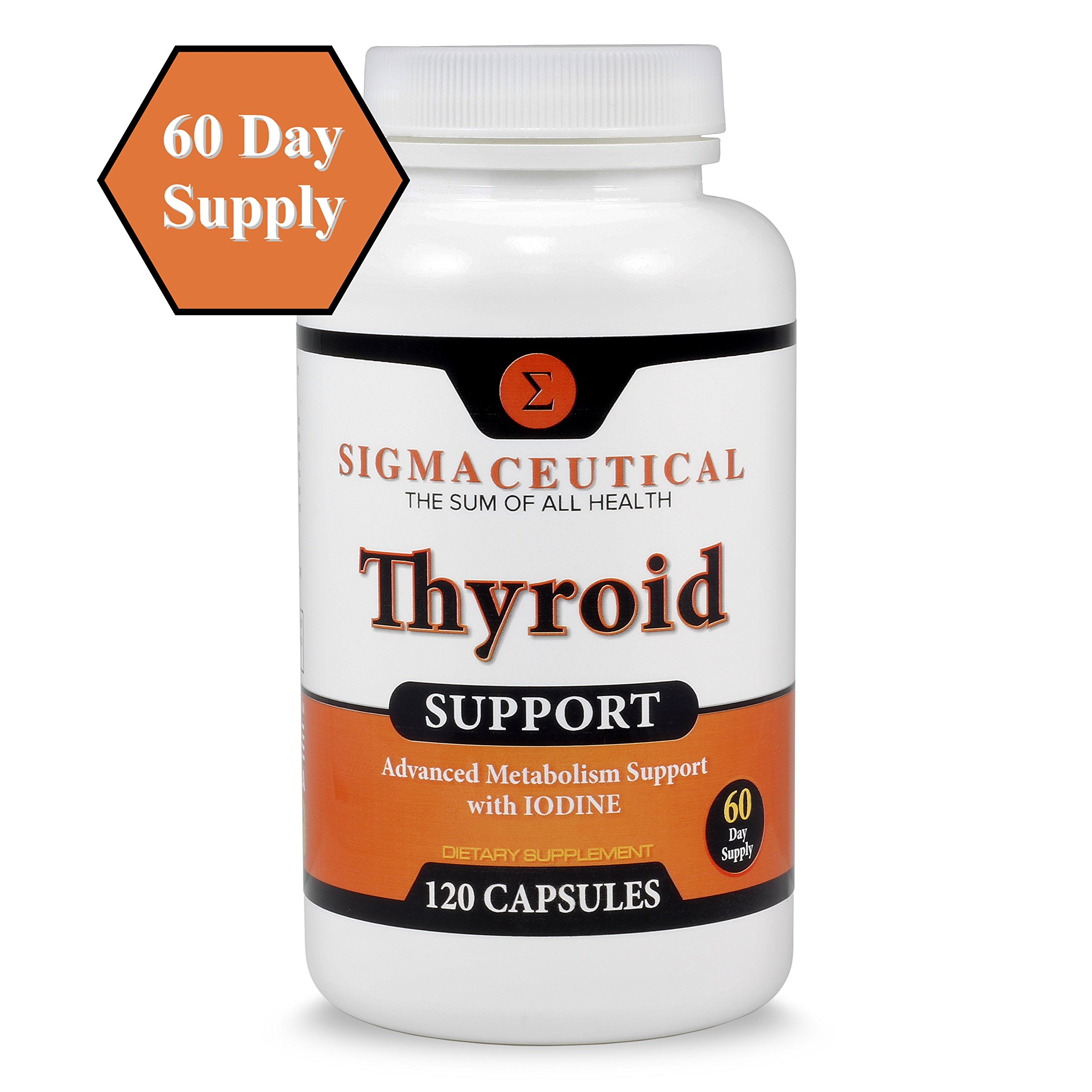 Thyroid Support Supplement - Iodine Supplement - Zinc & Selenium Supplement - Kelp Supplement - 120 Capsules by Sigmaceutical