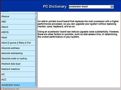 Amazon com: PC Users - Computer Dictionary Desktop