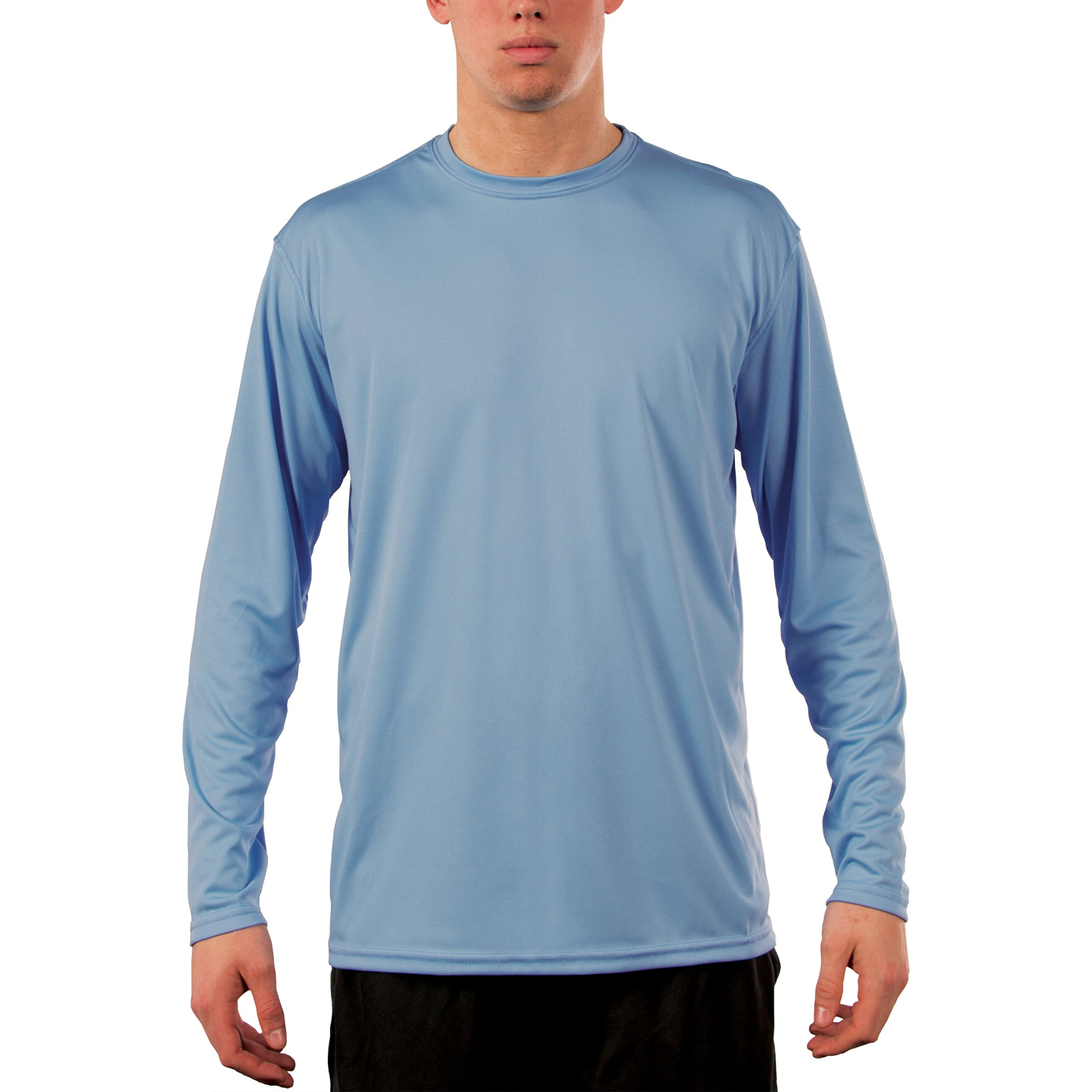Vapor Apparel Men's UPF 50+ UV Sun Protection Performance Long Sleeve T-shirt Large Columbia Blue
