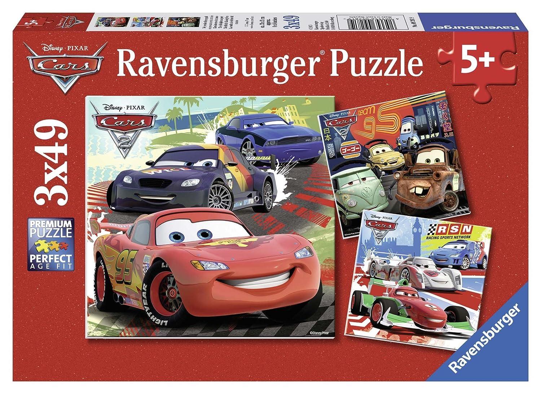Ravensburger - 09281 - Puzzle Enfant Classique - Cars 2 - 3 x 49 Pièces Kinderbücher / Kinderbeschäftigung / Spielgesch.