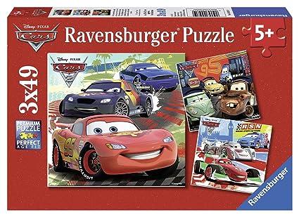 26a1b6a707d Ravensburger Disney Cars: Worldwide Racing Fun 3 x 49-Piece Jigsaw Puzzle  for Kids