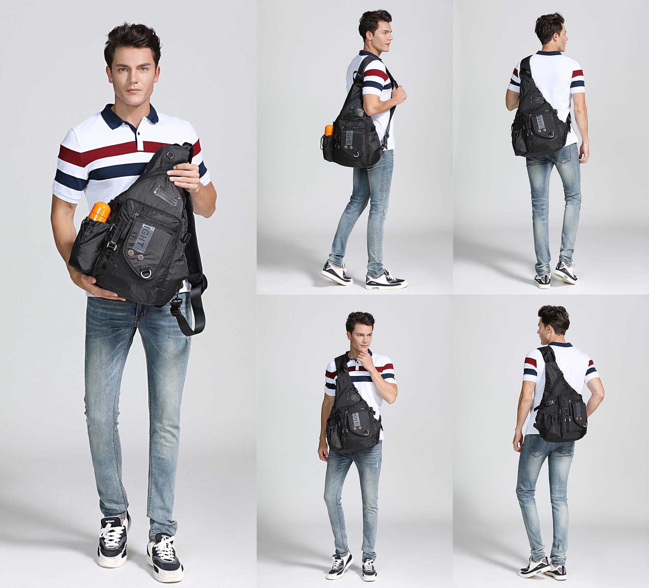c766eb07c2 DDDH Large Sling Bags Crossbody Backpack 14.1-Inch Chest Daypack Travel Bag  Book Bag for Men Women(Grey) - LYSB01LMW87BI-OFFSUPPLIES   Shops    Clothing
