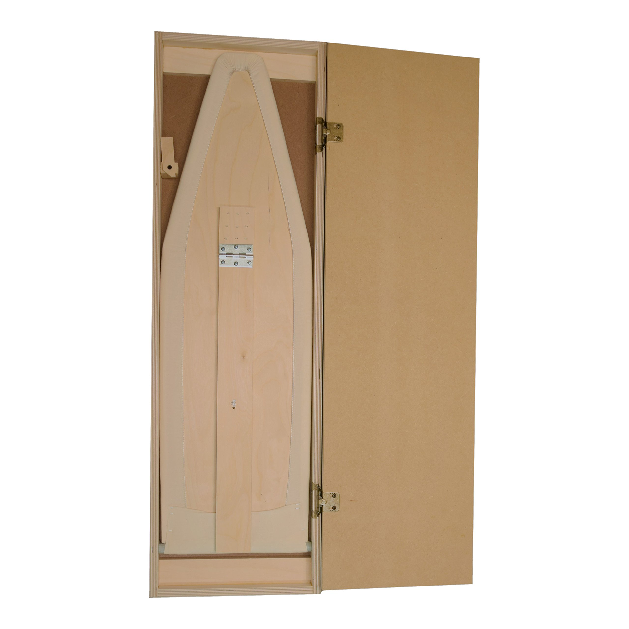 Built-In Ironing Board Cabinet, Made in USA, Raw Wood, Wall Mount or Recessed by IronEase (Image #5)
