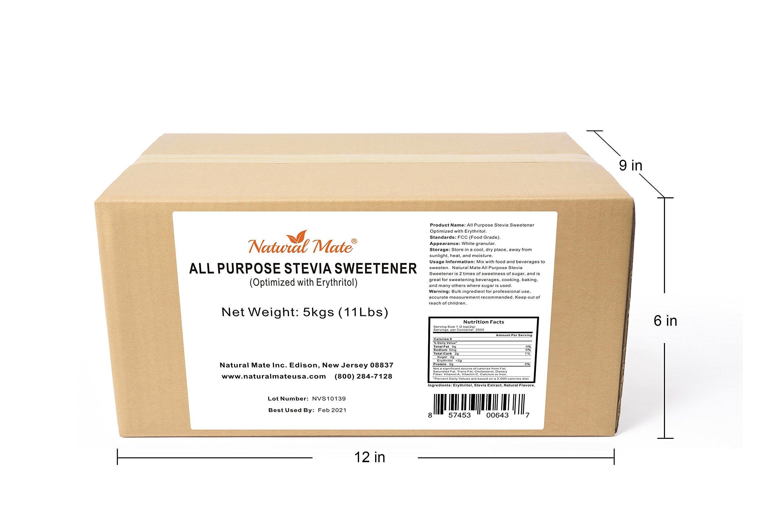 Natural Mate Stevia All Purpose Natural Sweetener, 5kgs/11Lbs   Free Gift: Monk Fruit Sweetener (10oz) by Natural Mate (Image #4)