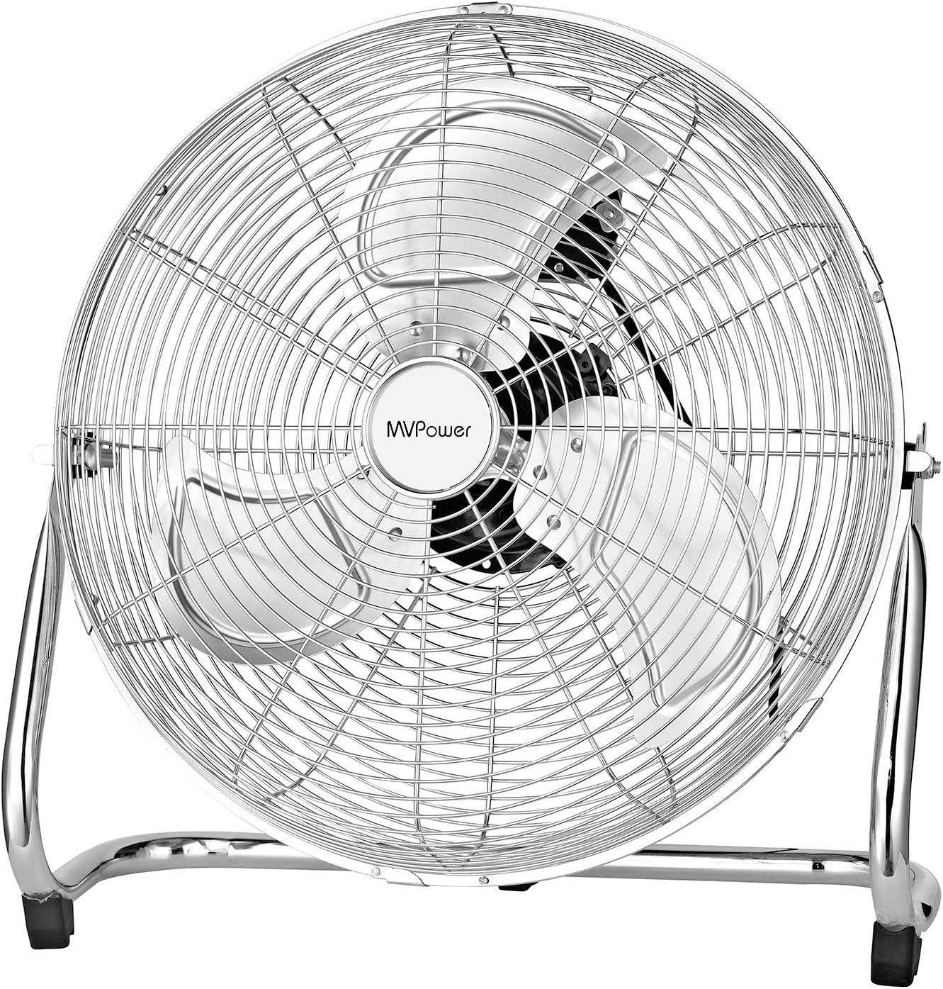 Ventilador de mesa MVPower, ventilador de piso de metal de 16 ...