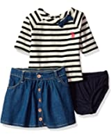 U.S. Polo Assn. Baby Girls' Fashion Top and Skort Set