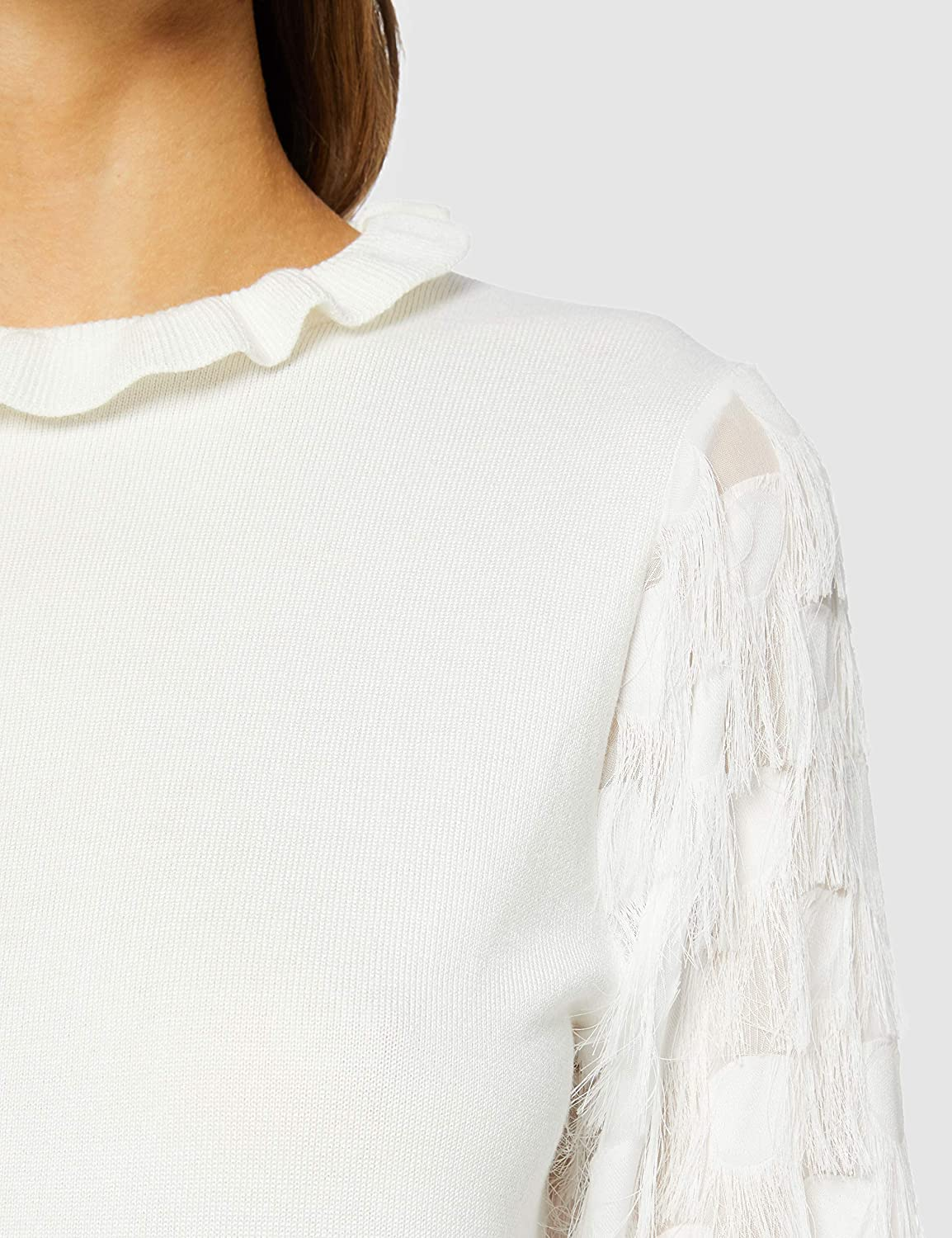 New Look Fringe Sleeve Jumper Maglione Donna