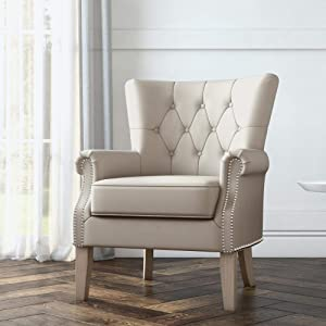 Better Homes & Gardens Accent Chair, Living Room & Home Office (Beige)