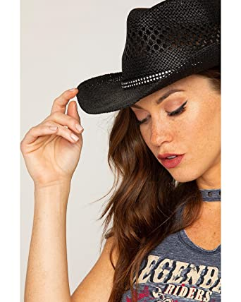 cd5c25e3e6fc4 Shyanne Women s Bling Straw Cowgirl Hat - Bb-19 at Amazon Women s Clothing  store
