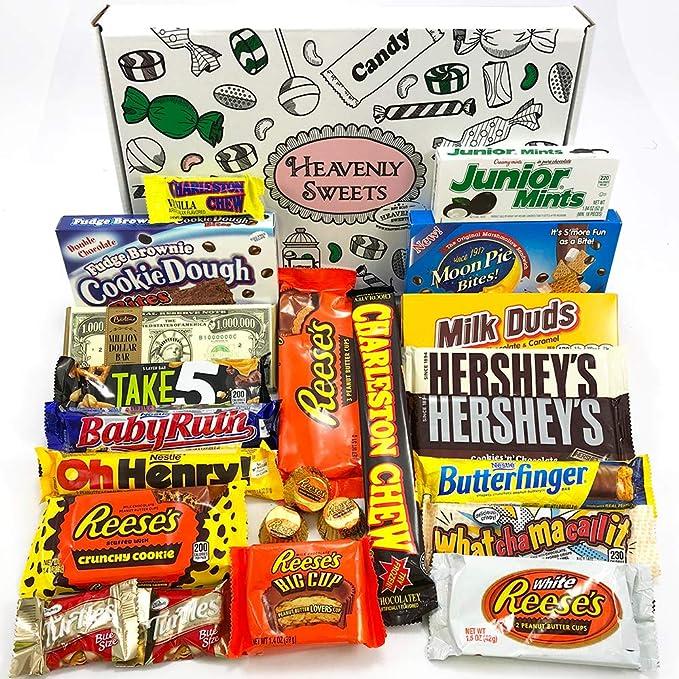 Gran Cesta Chocolate Americano | Surtido de 23 artículos incluido Hersheys Reeses Baby Ruth Butterfinger |